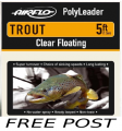5Ft Trout polyleaders     FREE POST