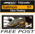 5Ft Salmon Polyleader   (FREE POST)