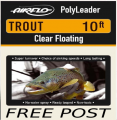 10Ft Trout polyleaders     FREE POST
